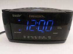 Emerson CKS3526 Dual Alarm SmartSet Time Projector Projection Alarm Clock Black