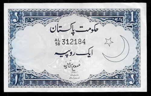 World Paper Money - Pakistan 1 Rupee ND 1964 P9A @ Crisp VF-XF