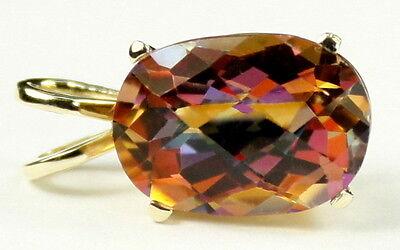 Twilight Fire Topaz, 14KY Gold Pendant, P006 ()