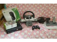 Xbox 360 with accessories 250gb