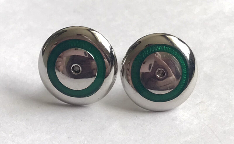 925 Sterling Silver & Real Diamonds Men's Stunning Cuff Links