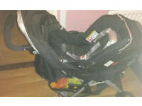 Graco travel system pushchair with raincover