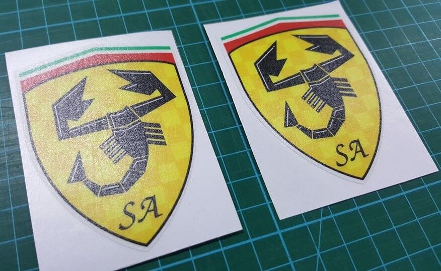 Fiat Abarth SS Car Badge Emblem Emblema Unused Chrome Excellent Condition