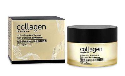 - Watsons Collagen Moisturising & Whitening High Protection Day Cream SPF40 45g
