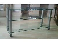 Lovely glass TV stand/ table, great condition!