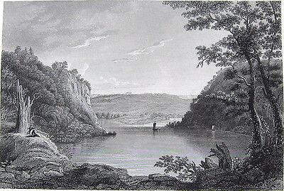 Harpers Ferry Potomac   Shenandoah River   1846 Landscape Art Print Engraving