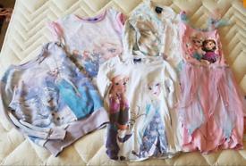 Frozen clothing bundle 5 items girls aged 4 5 6 years