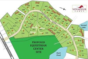 Building lots available for sale in Voyageur Lakes..