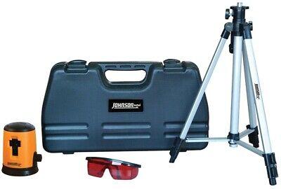 New Johnson Level 40-0921 Self-leveling Cross Line Laser Kit Horizontal 1872605