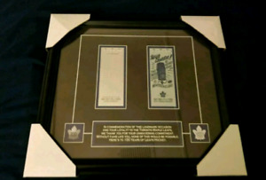 TORONTO MAPLE LEAFS 100TH ANNIVERSARY FRAMED TICKET DISPLAY