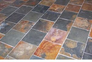 12x12 Slate multi color peacock  tile Now $1.75 SF !!