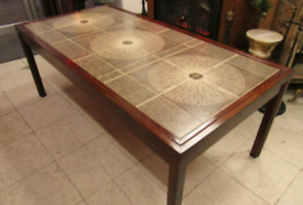 Vintage Danish Tile Top Coffee Table