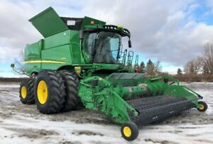2013 JOHN DEERE S680 COMBINE - SELLS BY AUCTION UNRESERVED