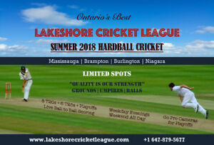 Burlington/Niagara Hardball Cricket League - Lakeshore Cricket
