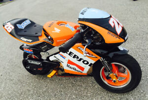 Repsol minibike 50cc size electric motor - 1 of a kind