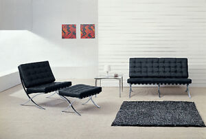 MIES VAN DER ROHE BARCELONA CHAIR SOFA LOVE AND DAYBED