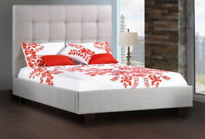 """""""MADE IN CANADA"""" Beautiful square tufted upholstered bed"""