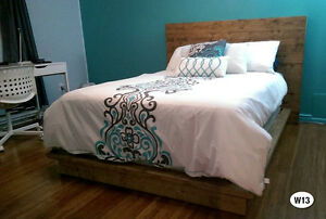 NEW RUSTIC SOLID WOOD BED FRAME + HEADBOARD BY ORDER Cornwall Ontario image 9