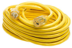 Yellow Jacket 2991 50-Feet 20-Amp Cord T-Blade 5-20 Lighted Ends