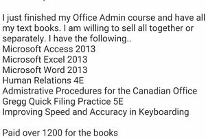 Office Admin text books London Ontario image 1