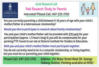 PAID Study for PARENTS ($70 EACH Parent), ONLY 1.5 Hours Long