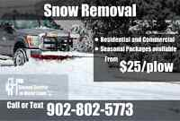 Snow Removal from $25/plow *Ground Control To Major Lawn*