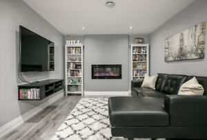 Newly Built Bright Basement for Rent in Oshawa from 1st April