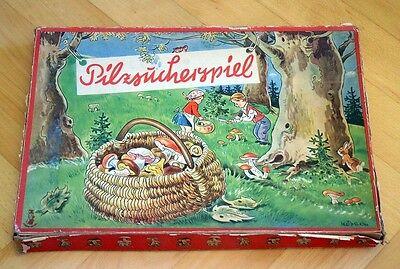 """DDR Brettspiel """" Pilzsucherspiel """" Zinke Spiel Würfelspiel Pilze 50er Jahre OVP"""