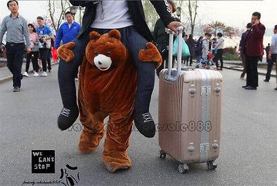 Erwachsene Teddybär (Teddybär-Maskottchen-Kostüm tragen Fahrt auf mir Erwachsene Cosplay Partei-Kleid)