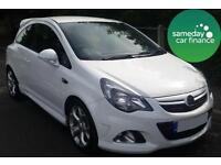 £193.35 PER MONTH WHITE 2013 VAUXHALL CORSA 1.6 VXR 3 DOOR PETROL MANUAL