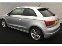 2011 SILVER AUDI A1 1.4 TFSI S LINE PETROL AUTO 3DR CAR FINANCE FR £33 PW