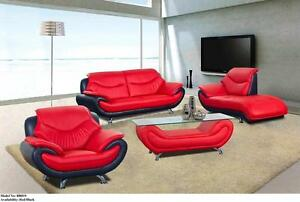 LIMITED STOCK 4PCS BONDE LEATHER  SOFA SET $899 LOWEST PRICE JUST A FEW SET LEFT