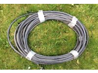 Steel armatured electric cable.