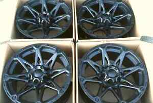 "*** 4 NEW WHEELS FOR DODGE RAM*** 17"" 5x139.7  MATTE BLACK"