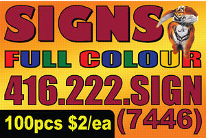 12x18 Coroplast Post Signs SALE > 100pcs $2/ea full colour print
