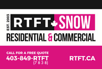 Snow Removal Services - Residential AND Commercial!