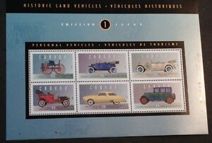 Canadian stamps .. Historical Land Vehicles