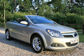 2007 VAUXHALL ASTRA 1.6 16v TWIN TOP SPORT CONVERTIBLE SALOON LOW 49500 MILEAGE