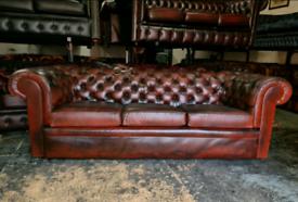 Pegasus Chesterfield Oxblood 3 Seater Sofa