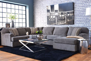 2 yr old Loric Smoke 3 Piece Sectional Couch from Leons
