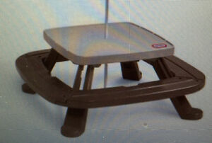 Little tikes fold and store picnic table