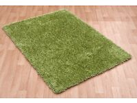 NEXT shaggy pile rug in green