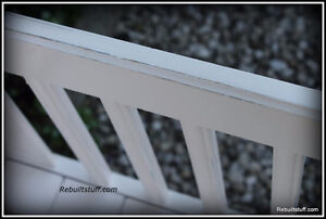 Shabby Chic Bench-Repurposed  From Bed Kitchener / Waterloo Kitchener Area image 4