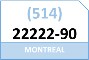 MONTREAL 514-22222-XY vanity vip lucky premium number for sale