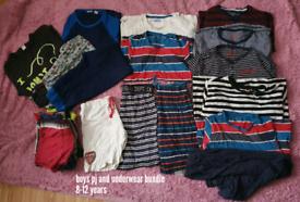 Boys pj and underwear bundle