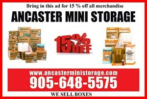 Ancaster Mini Storage and U-Haul - We sell boxes too