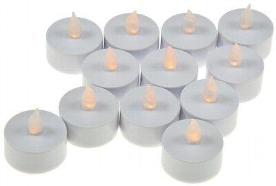12 x LED Teelichter flackernde Kerze Teelicht LED-Kerze inkl.Batterien 21009