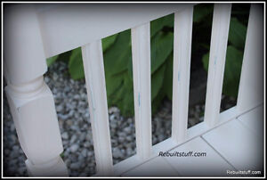 Shabby Chic Bench-Repurposed  From Bed Kitchener / Waterloo Kitchener Area image 3