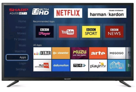 """Free delivery SHARP 49"""" SMART 4K UHD WIFI LED TV TELEVISION"""