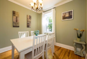 3 bedroom century home for rent in Westboro - character filled